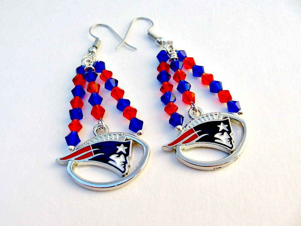 patriots earrings new patriots football earrings new patriots 8778