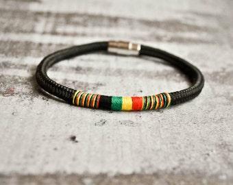 Rasta Costa Rica bracelet | Costa rican jewelry | rasta jewelry | rastafari jewelry  masaai | pulsera rasta | rasta wristband | eco friendly