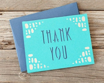 Cut Thank You Card