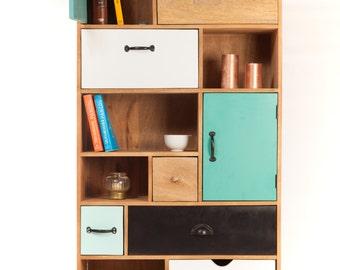 Design Bookshelf wood drawers