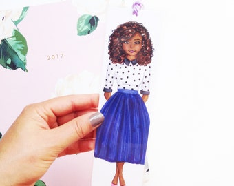 Illustrated bookmark, Unique bookmarks, Paper bookmark, Laminated bookmark, Fashion bookmark, Cute bookmark, Page marker, Chic bookmarker