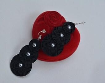 Mamba -soutache earrings
