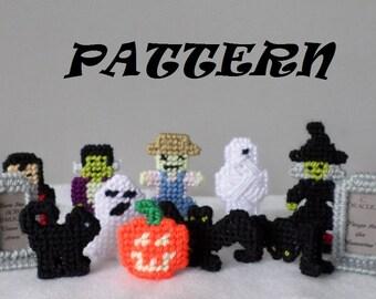 PATTERN Halloween Figures Plastic Canvas