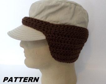 Crochet Pattern Baseball Cap : Ear warmer baseball cap Etsy
