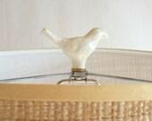 Lamp finial. Ceramic bird finial. Hand sculpted and glazed, decorative lamp hardware. Unique lamp parts from Kri Kri Studio
