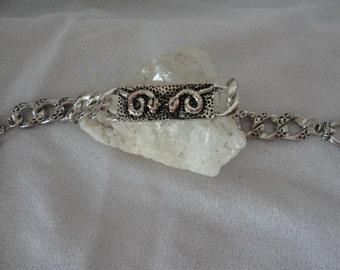 Egyptian Inspired Silvertone Snake Bracelet******.
