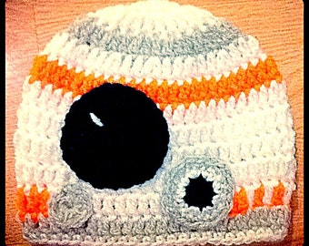 Star Wars Inspired BB-8 Baby Hat, Newborn or 0-3 Months