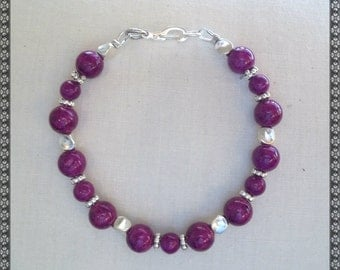 purple bracelet, violet bracelet, purple, violet, silver