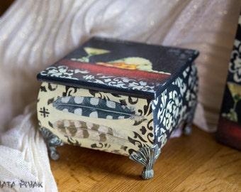 Elegant wooden jewelry box, Trinket box, jewelry storage, Box for jewelry, Handmade box-gift, wooden box, home decor