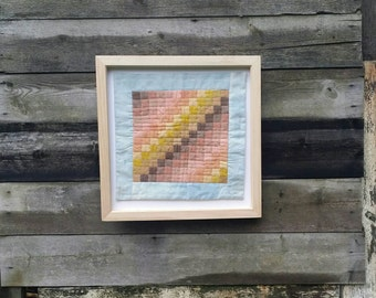 Willow Woad Weld and Madder dyed Wall Quilt