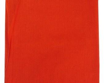 "Orange Solid Bandana -  22"" x 22"""