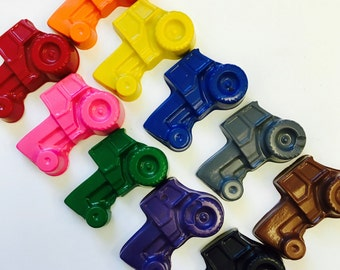 10 Tractor Crayons Party Favors Gift Bags -  Farm  - Transportation - John Deere Party