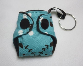 Cloth Diaper Keychain diaper ornament, Basic style Diaper key chain diaper key fob