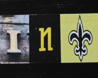 New Orleans Saints! Football team sign, gridiron, team sport, photo letter art, alphabet