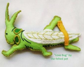 Cat Toy - Catnip Toy - Pet Toy - Grasshopper Cat Toy - Love Bug Cat Toy - Love Bug Pet Toy - Felt Insect Cat Toy -Grasshopper Catnip Cat Toy