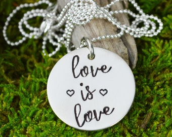 Love is Love Necklace in Sterling SIlver