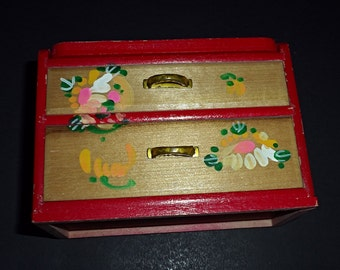 Vintage Dresser with Mirror Doll Furniture by Fomerz Japan Jewelry Box Barbie