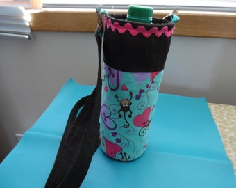 Insulated Water Bottle Carrier / Water Bottle Tote / Insulated Bottle Case