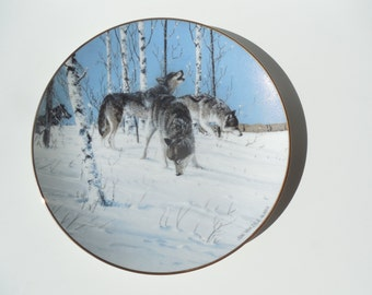 Vintage Wolf Plate Princeton Gallery