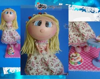 Tea girl doll