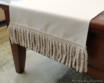 Drop Cloth Table Runner (with/without Fringe)