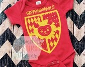 Custom Wizard Outfit, Gryffindorable Outfit, Wizard Baby, Potter Shirt, Gryffindor