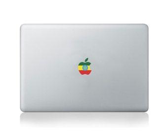 Apple Flag of Ethiopia Vinyl Sticker for Macbook (13/15) or Laptop