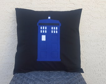 Tardis Doctor Who Pillow Cover - Made to Order