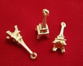 """10pc """"Eiffel tower"""" charms in gold style (BC898)"""