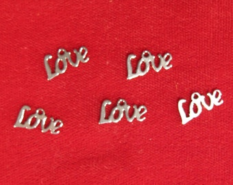 """20pc stainless steel """"Love"""" charms (BC1097)"""