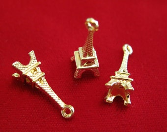 "10pc ""Eiffel tower"" charms in gold style (BC898)"