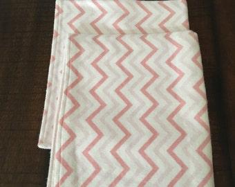 Pink chevron security blanket