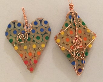 Colored Pencil Pendant (great teacher gift!)