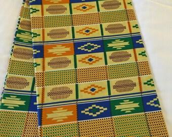 Kente fabric, Kente cloth, African wax print fabric, African clothing fabric, ankara, ntoma, ntwoma, yard,