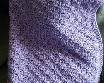 Textured Baby Blanket in Lavender