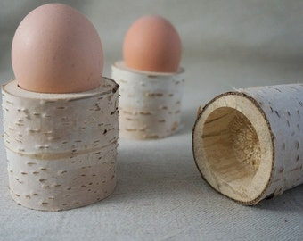 Egg Cup in raw wood