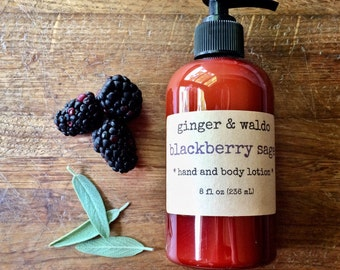 Blackberry Sage Hand Lotion - Blackberry Sage - Hand Lotion - Vegan