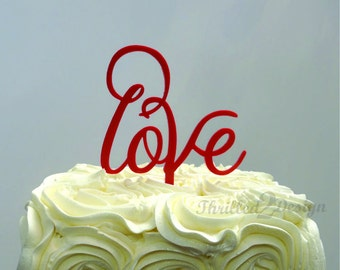 8 inch Love Cake Topper - Wedding, Anniversary, Celebrate, Party