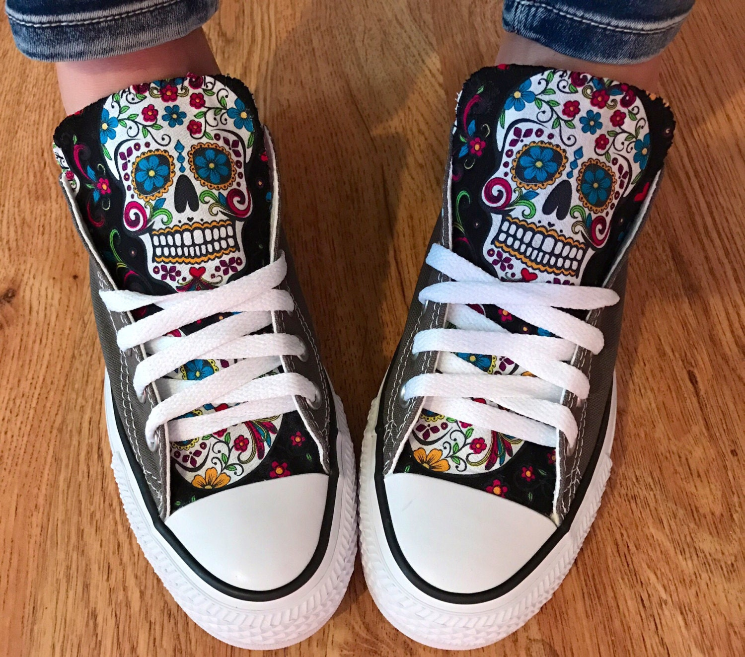 Sugarskull Converse Chuck Taylor Shoes - My Sugar Skulls