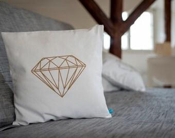 Cushion diamonds copper print