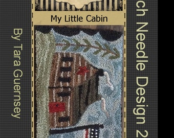 Instant Download E-Pattern! My Little Cabin. Original design by Perfect Prim Punch. Valdani Threads Log Woods Primitive