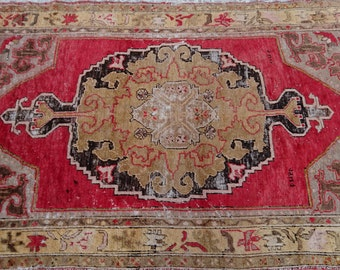 Vintage Turkish  Oushak  rug 84x51