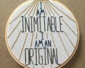 Wait For It Lin Manuel Miranda Hamilton Embroidery