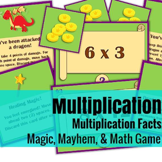 Magic, Mayhem, and...Math! : Multiplication Facts (A Math Game Full of Adventure!)