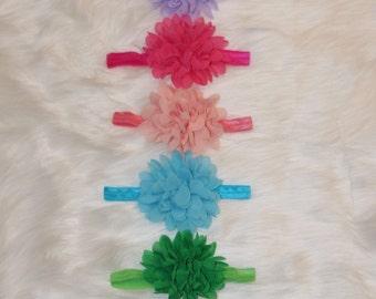 Flower Headband, Chiffon Headband, Girl Headband, Toddler Headband, Infant Headband, Baby Headband