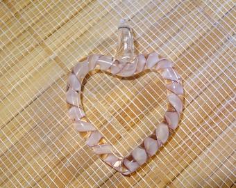 Open Heart Lampwork Pendant
