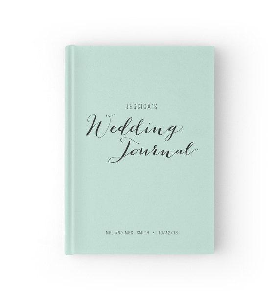 Wedding Planner Book Mint Journal Bridal