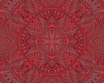 Red Tile PDF Cross Stitch Pattern
