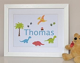 Dinosaur art poster - dinosaur poster - dinosaur kids decor - dinosaur wall art - dinosaur artwork - kids dinosaur poster - dinosaur nursery