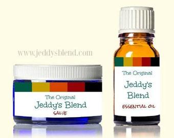The Original Jeddy's Blend 10ml Essential Oil and Salve Bundle